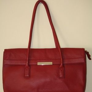 Red leather Banana Republic Handbags